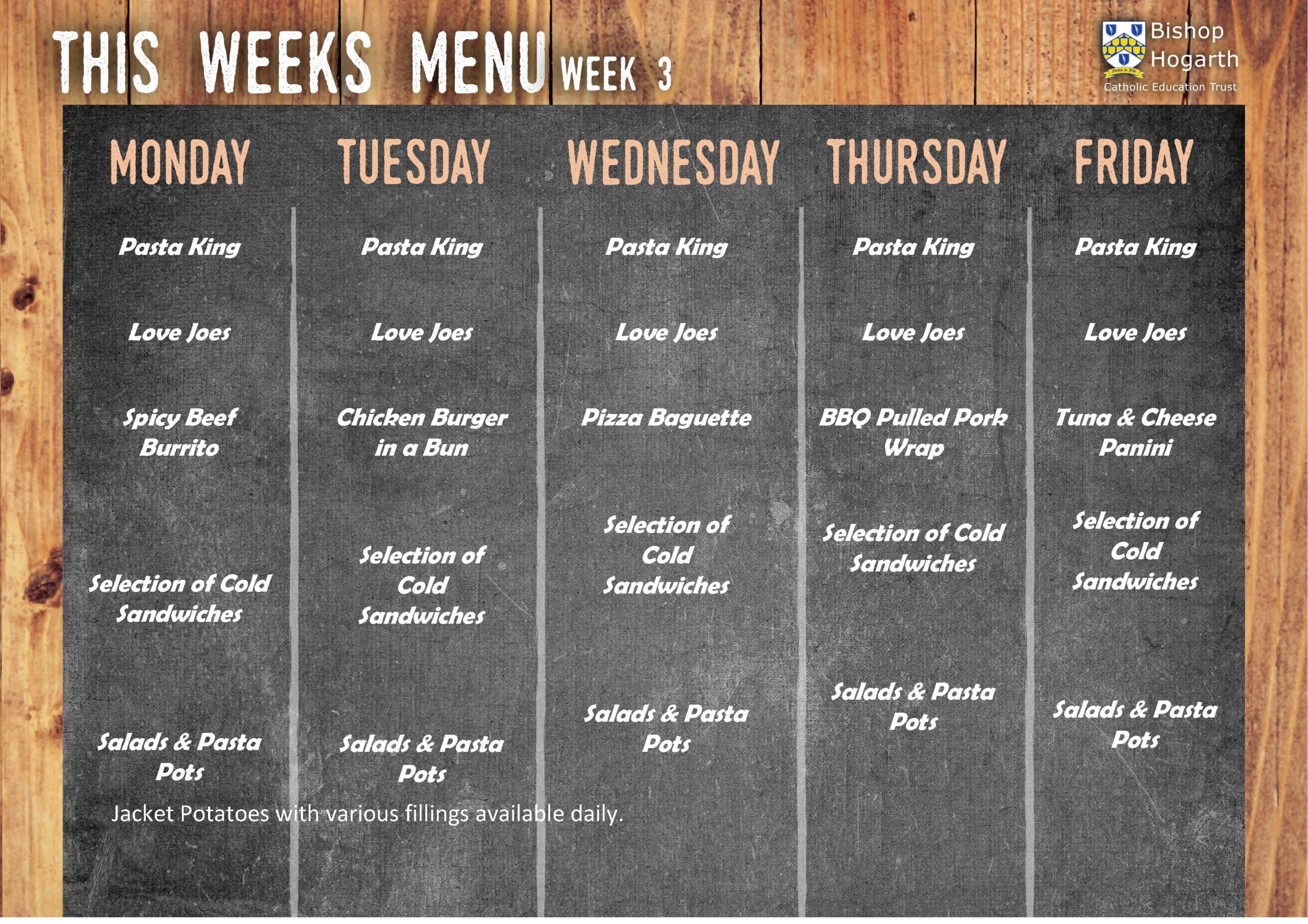 Additional Menu Week 3